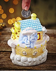 Personalised Noahs Ark Money Bank