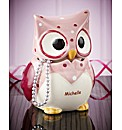 Personalised Pink Owl Trinket Box