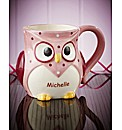 Personalised Owl Mug