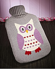 Knitted Hot Water Bottle & Cover