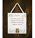 Personalised Owl Plaque