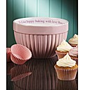Personalised Mixing Bowl & Cupcake Cases