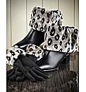 Faux Fur Boot Topper & Gloves Set