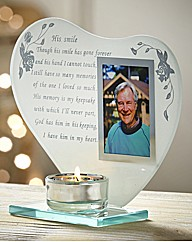 His Smile Poem Tealight