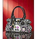 Betty Boop Animal Print Charm Bag
