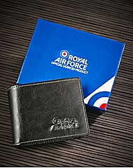 RAF Leather Wallet With Embossed Logo