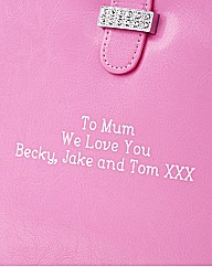 Personalised Pink Diamante iPad Case C