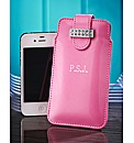Personalised Pink Diamante iPhone Case