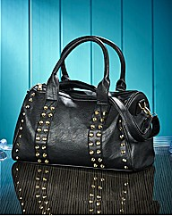 Ladies Studded Barrel Bag