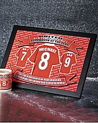 Personalised Football Shirt Laptray
