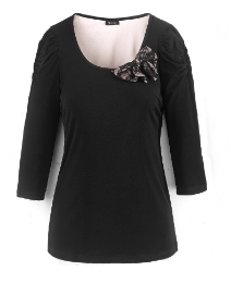 Petite Joanna Hope Lace Bow Jersey Tunic