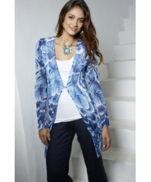 Fusions By East Print Over Blouse