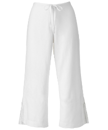 Fusions By East Linen Crop Trousers