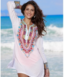 Fusions By East Embellished Print Kaftan