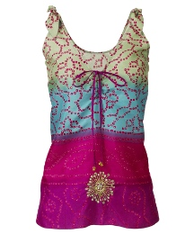 Fusions By East Embellished Tie Dye Vest