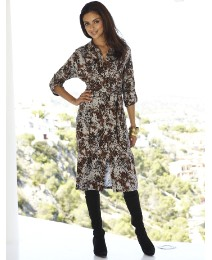 Joanna Hope Animal Print Jersey Dress