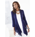 Joanna Hope Crochet Trim Cardigan