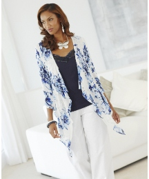 Joanna Hope Print Shrug Cardigan