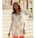 Joanna Hope Lace Trim Floral Tunic