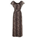 Joanna Hope Animal Print Gypsy Dress