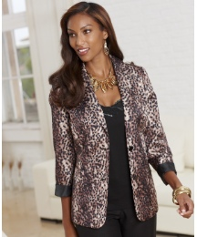 Joanna Hope Print Tailored Jacket