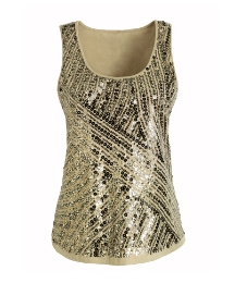 Joanna Hope Sequin Embellished Top