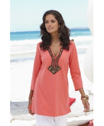 Joanna Hope Sequin Embellished Tunic