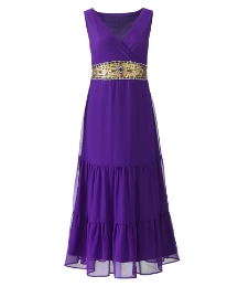 Joanna Hope Jewel Trim Gypsy Dress