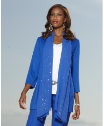 Joanna Hope Sequin Jersey Shrug Cardigan