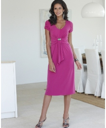 Joanna Hope Jewel Trim Jersey Dress
