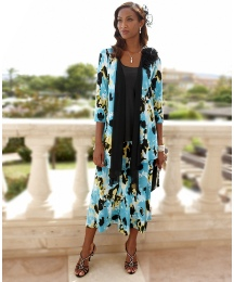 Joanna Hope Print Jersey Shrug