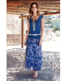 Changes By Together Print Gypsy Skirt