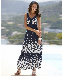 Joanna Hope Butterfly Print Maxi Dress