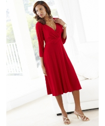 Joanna Hope Cross Front Jersey Dress