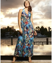 Sea Shells Print Maxi Dress
