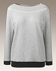 Joanna Hope Gold Trim Sweatshirt