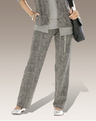 Joanna Hope Print Jersey Trousers 29in