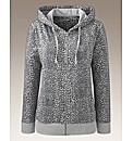 Joanna Hope Print Jersey Hooded Top