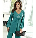 Joanna Hope Stud Trim Jersey Tunic
