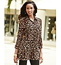 Joanna Hope Animal Print Crushed Blouse