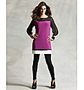 Joanna Hope Contrast Colour Block Tunic