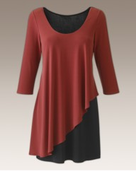 Joanna Hope Colour Block Layered Top