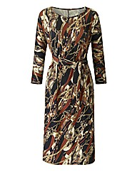 Joanna Hope Chain Print Jersey Dress