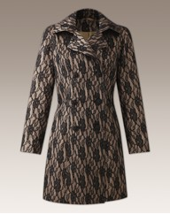 Joanna Hope Contrast Lace Coat