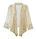 Joanna Hope Beaded Waterfall Jacket