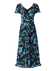Joanna Hope Angel Sleeve Print Dress