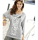 Joanna Hope Sequin Trim Jersey Jumper