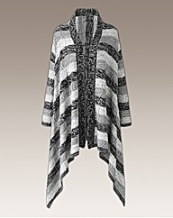 Joanna Hope Stripe Waterfall Cardigan