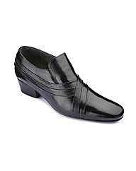 Cuban Heel Slip On Shoes Wide Fit