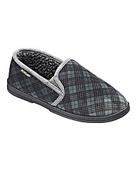 Dunlop Check Double Gusset Slippers EW